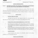 Revision of pay scales, allowances and Pension of civil servants of federal government 1