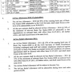 Sindh Notification Pay Scales 2011, Increase in Allowances & Pension 2
