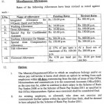 Sindh Notification Pay Scales 2011, Increase in Allowances & Pension 4