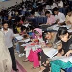 UET Lahore - Engineering Entry Test - VC Muhammad Akram visits center