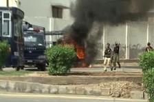 Labour Union Workers Protest outside KESC head office Karachi turns violent