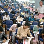 UET Lahore Entry Test - Students taking test