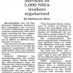 3000 NHA Workers regularized - Daily Dawn 13-10-2011