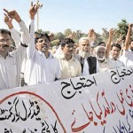 Federal Colleges Teachers Protest for Demands on Oct 12 2011