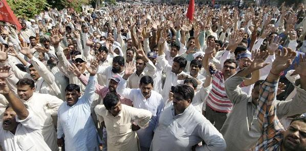 WAPDA labour union protests against privatization and tariff hike plan