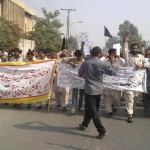 Multan Piran Ghaib WAPDA workers in protest at MEPCO Office
