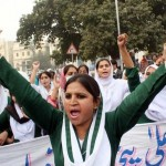 Punjab Nurses Protest in Lahore on 24-11-2011 -1