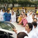 Punjab Nurses Protest in Lahore on 24-11-2011 -15