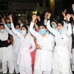 Punjab Nurses Protest in Lahore on 24-11-2011 -2