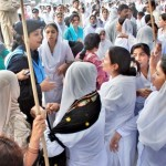 Punjab Nurses Protest in Lahore on 24-11-2011 -5