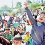 KESC Surplus Employees Children Protest infront of KESC Head Quarter Karachi