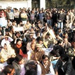 NDARA Employees Dharna at Governor House Lahore