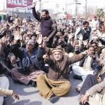 WAPDA Workers Protest and Dharna at Murree Road Rawalpindi