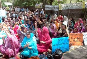 Punjab VTI Employees Protest in Lahore Continue