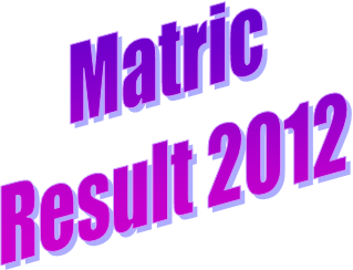 Matric Results 2012 announced on 25th July, Top Position Holders Prize Distribution Today