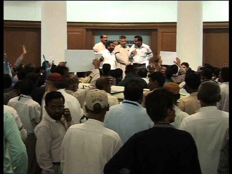 CAA employees protest in Karachi for bonus