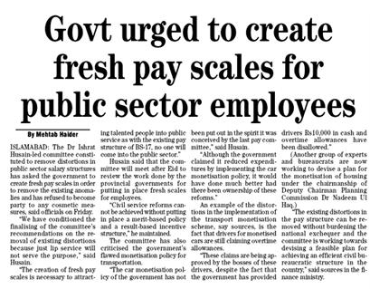 New Pay Scales Creation for Govt Employees – Pay Committee asked Government