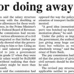 Pay Commission for Unified Pay Scales - DAWN 20-10-2012