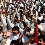 WAPDA employees protest against privatisation in Lahore