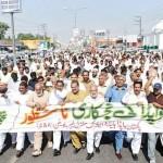 WAPDA employees protest against privatization in Rawalpindi