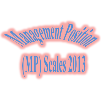 Revised Notification of Management Position Scales 2012