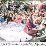 Para Medical Staff Dharna at Lahore CM House