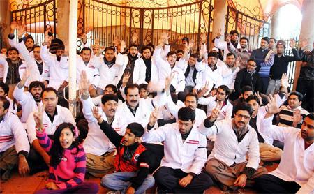 YDA hunger strike in Lahore (Punjab)