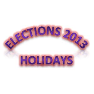 Punjab Notified Election Holidays for Schools and Colleges (8-13 May, 2013)