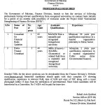 Jobs in Finance Division, Govt of Pakistan