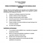 Jobs in Finance Division, Govt of Pakistan - Terms of Preference