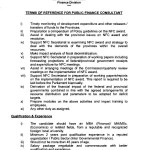 Jobs in Finance Division, Govt of Pakistan - Terms of Preference 2