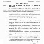 Notification of Computer Allowance to Computer Personnels dated 7-5-2013 a
