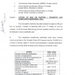 Punjab Schools Education Notification for Lifting ban on transfer Posting dated 31/5/2013 (Page 1/4)
