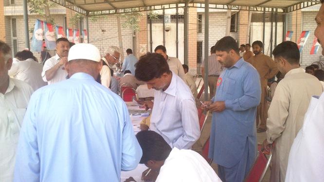 WAPDA Hydro Union Polling camp MEPCO Multan 2