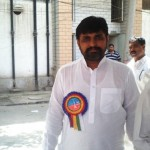 Workers coming for polling in Multan