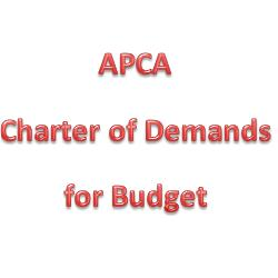 APCA Presents Charter of Demands for Budget 2013-2014