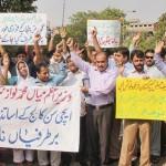Aitchison College Lahore Teachers protest