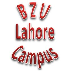 Jobs in BZU Lahore Campus – Bahauddin Zakariya University