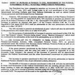 Federal govt pension increase notification 2013 for civil and armed forces pensioners (Page 1/2)