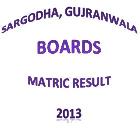 GRW SGD Board Matric Result 2013