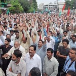 All Pakistan WAPDA Hydro Electric Workers Union Protest at Press Club Lahore