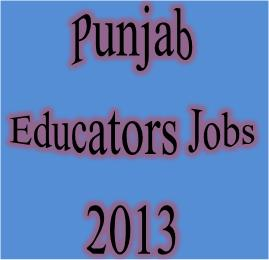 Punjab School Educators Jobs 2013