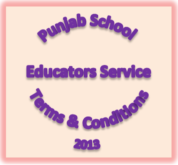 Punjab School Educator's Service Terms and Conditions