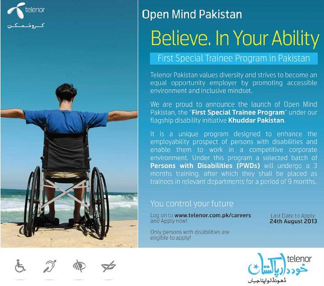 Telenor Special Trainee Program, Khuddar Pakistan