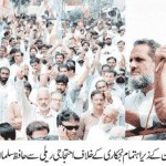 NLF Pakistan protest against privatization - Hafiz Salman Butt (PEREM Union) Address