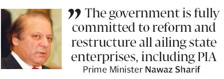 Nawaz Sharif committed for reforms and restructuring in govt departments