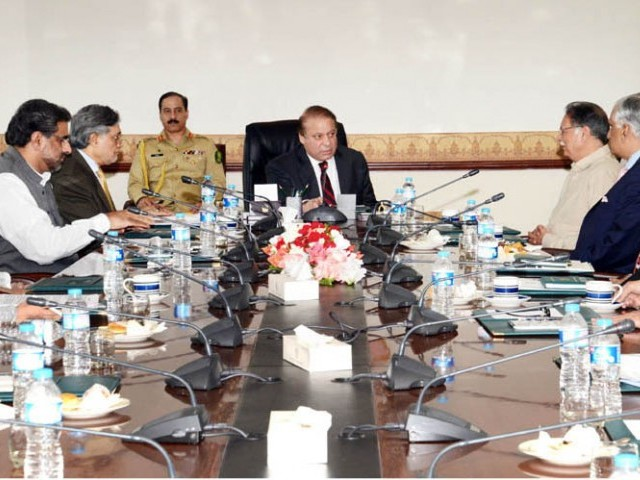 Prime Minister Nawaz Sharif Presiding Over Meeting on PIA Privatization Issue in Islamabad