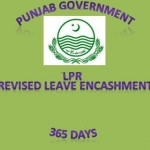 Punjab Revised LPR Leave Encashment Rule