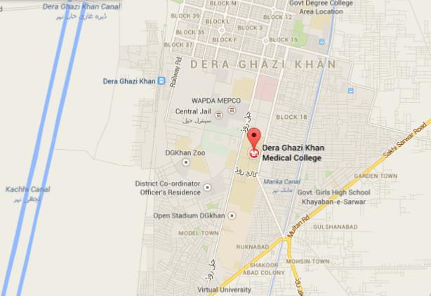 Location Map Dera Ghazi Khan Medical College