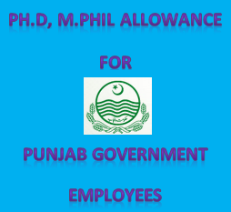 Phd Mphil Allowance for govt employees